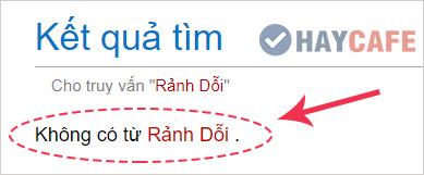 Không có từ Rảnh Dỗi trong từ điển Tiếng Việt